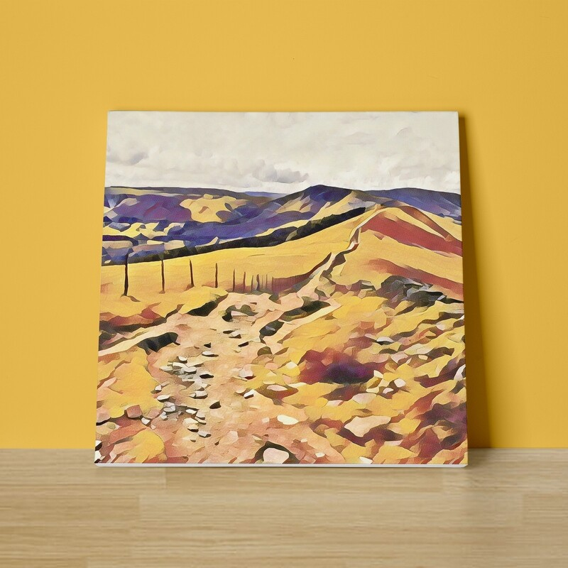 Mam Tor Great Ridge Canvas Print