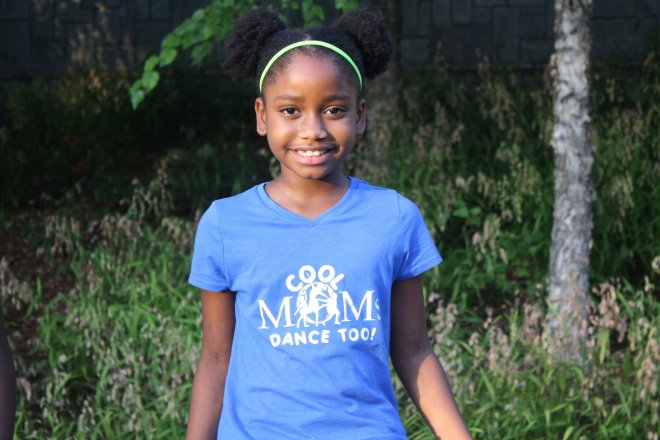 Cool Moms Dance Too Youth Blue Tee 0012