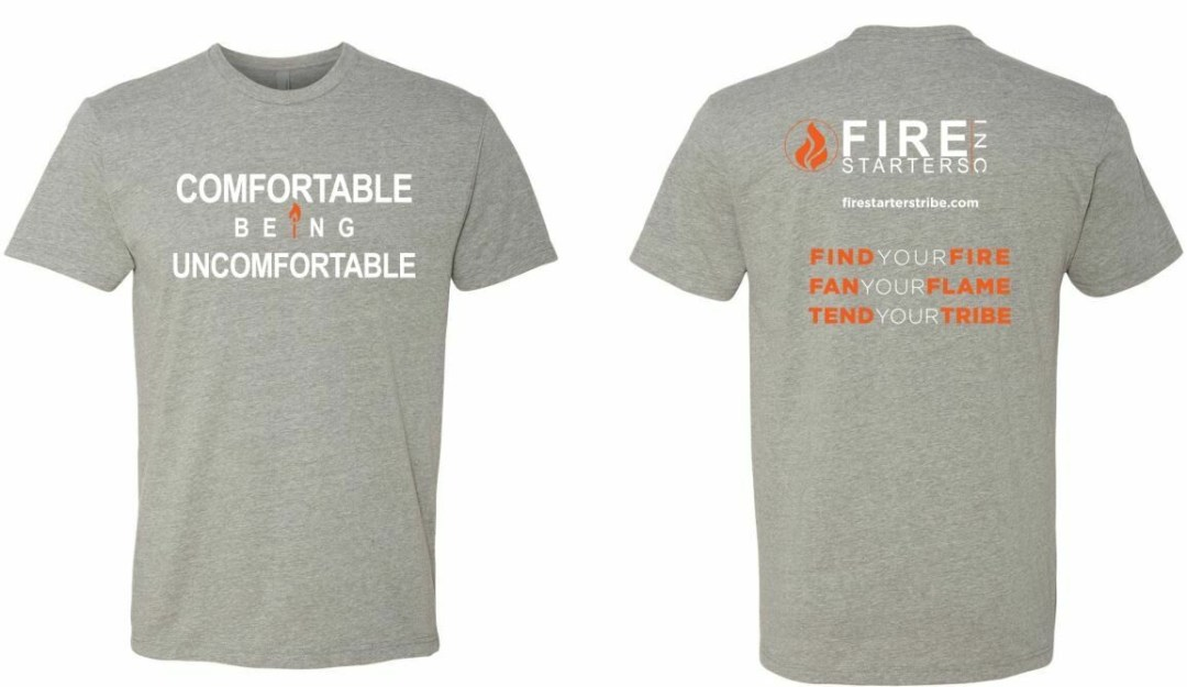 Comfortable Being Uncomfortable Standard Fit T shirt (Heather Gray)