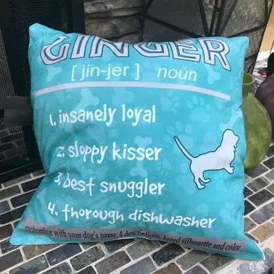 Pet Name Pillow