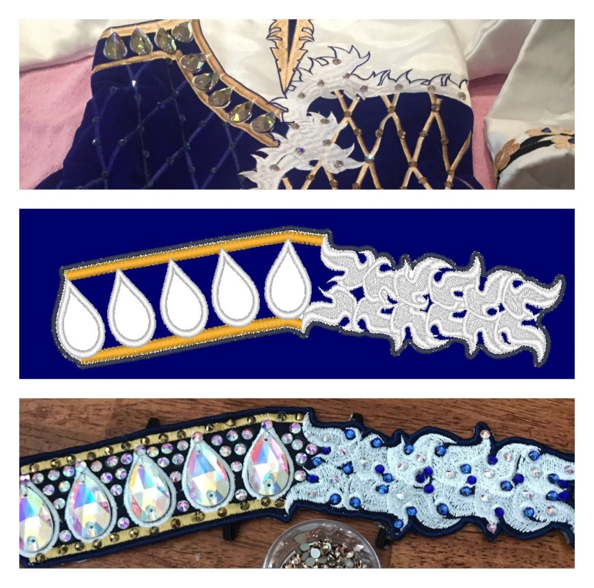 Custom designed side tiara to match your solo costume. $20 deposit for the design required!