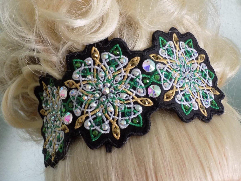 Celtic snowflake lace side Tiara. 00063