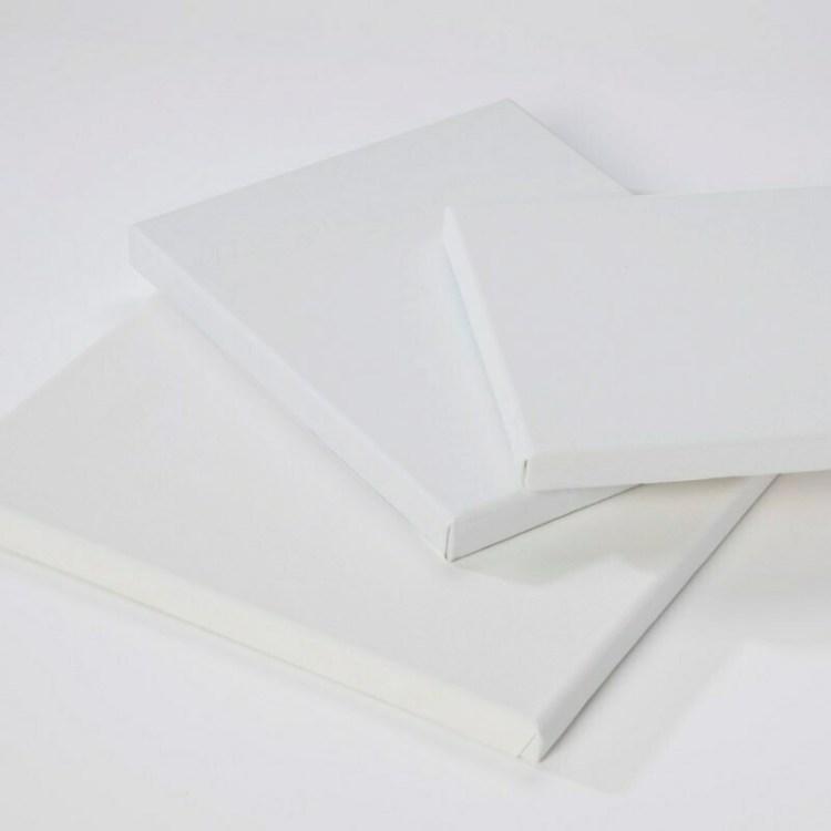 Châssis entoilé 3D coton blanc - 30x30 cm - 380 g/m²