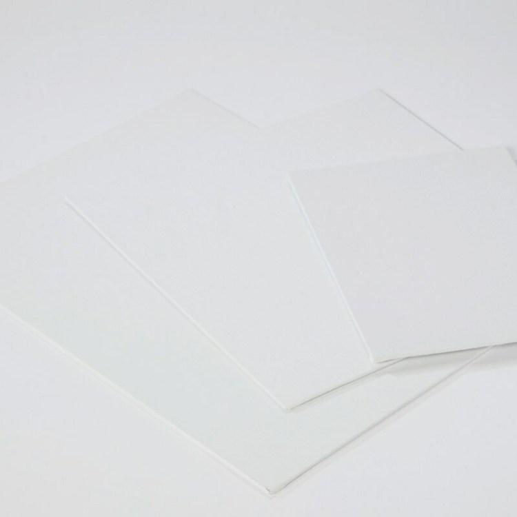 Carton entoilé 30x40cm coton blanc  - 280 g/m2