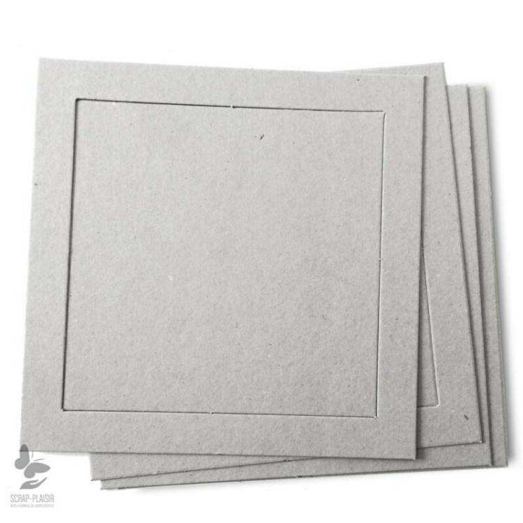Lot de 8 cadres carrés en carton à décorer - 14,5 cm