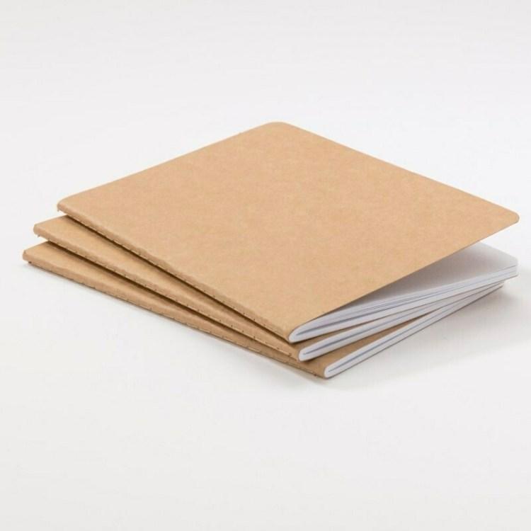 3 carnets Kraft format portrait 12x17 cm - 40 pages