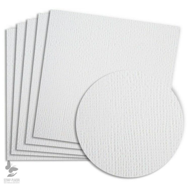 5 feuilles de papier texturé A4 - Blanc