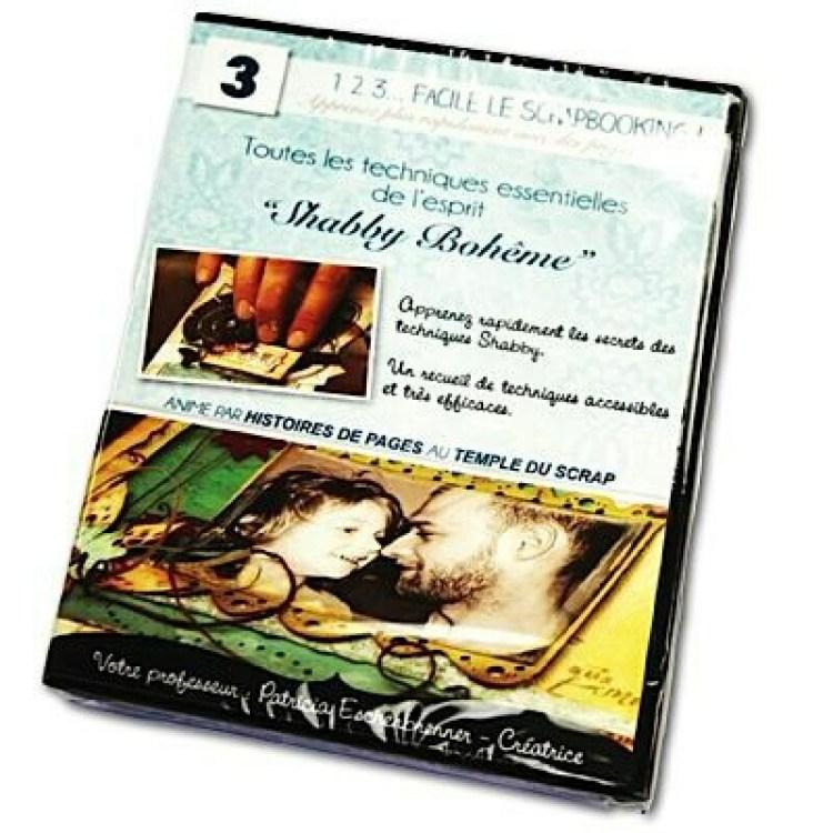 DVD 1,2,3 Facile le scrapbooking Tehcniques Shabby Bohème - Onirie