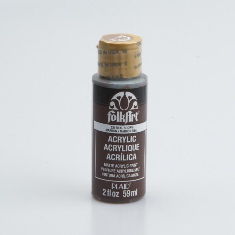 Peinture acrylique mat FolkArt Plaid 59 ml - Real Brown
