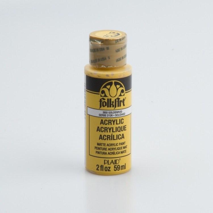 Peinture acrylique mat FolkArt Plaid 59 ml - Goldenrod