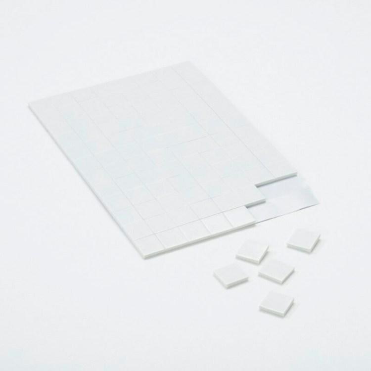 Carrés adhésifs 3D - Moyens - 12mm