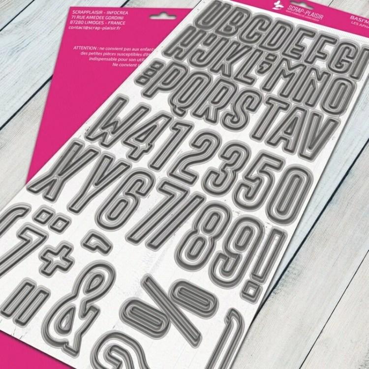 Set de 50 matrices de découpes Alphabet géant - 27x14cm
