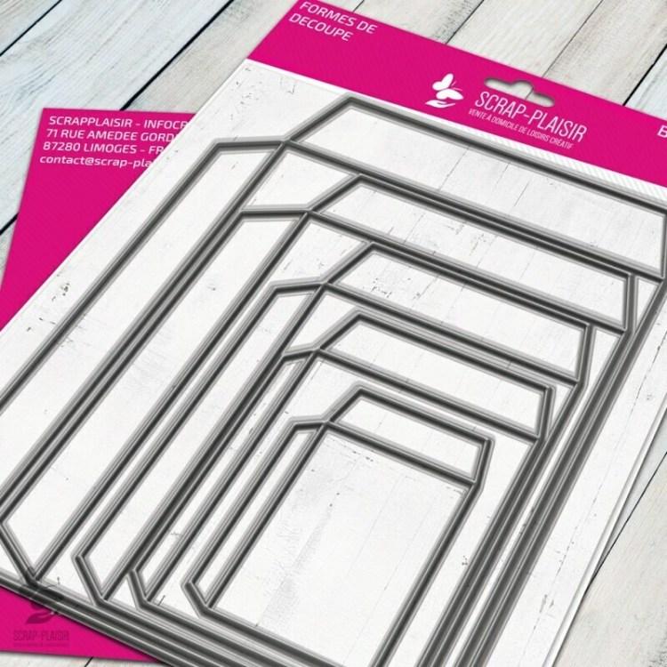 Set de 5 matrices de découpe enveloppes et structures - 15x15cm