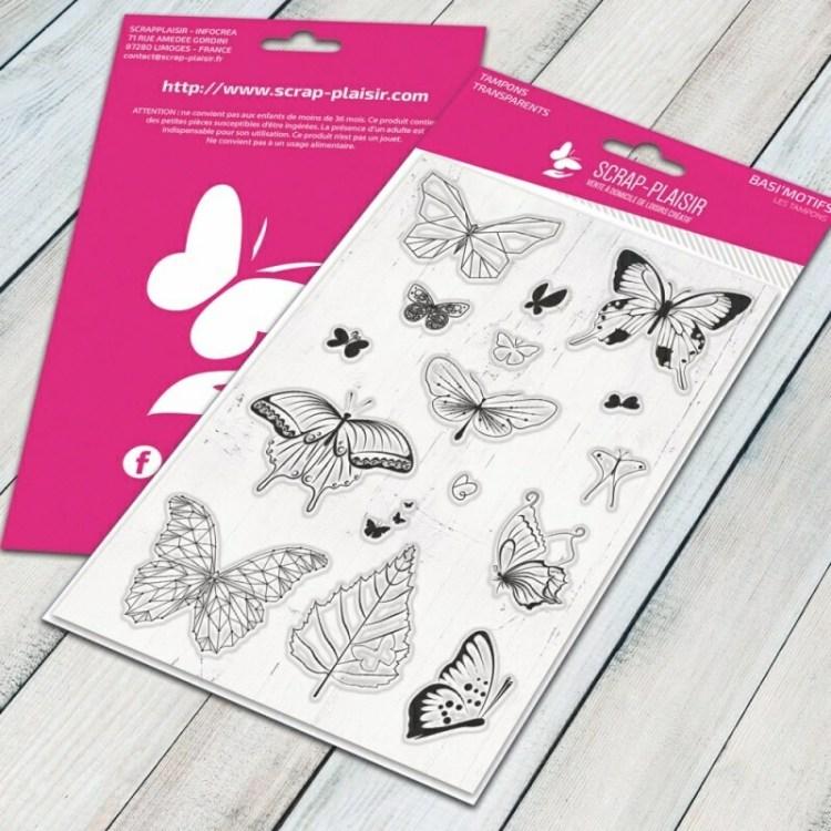Set de 16 tampons clear papillons bucoliques et tendances - 10x15cm