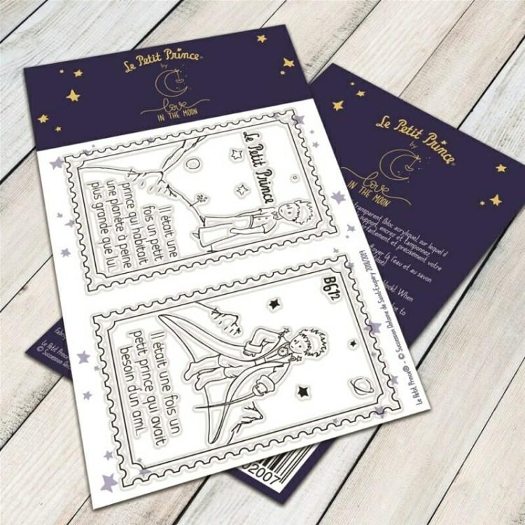 Set de 2 tampons clear b612 du Petit Prince - 6,5x9,5cm