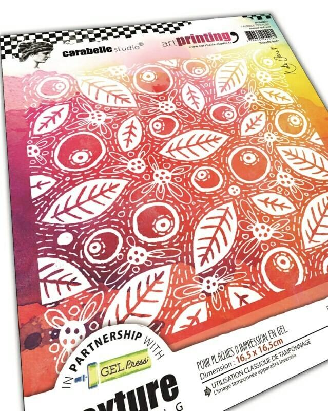 Plaque d'impression en gel artPrinting - Doodle leaf by Kate Crane