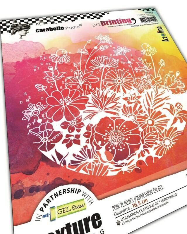 Art Printing Rond : Héritage d'un bouquet acidulé by Azoline