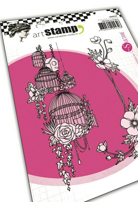 Set de tampons cling A6 - French flowers by Sultane - 10x15cm