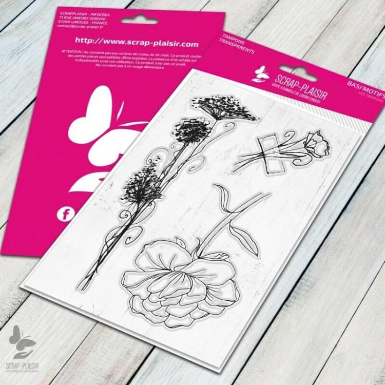 Set de 3 tampons clear fleurs et végétal - 10x15cm