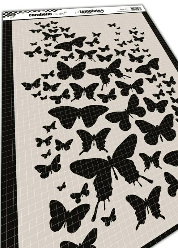 Pochoir A4 - Un vol de papillons