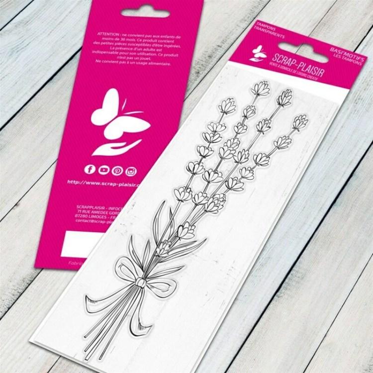 Tampon clear bouquet de lavande - 13x5,5cm