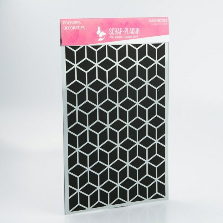 Grand pochoir décoratif Basi'Motifs - Cubes