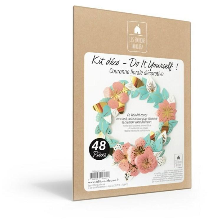 Kit créatif couronne florale décorative