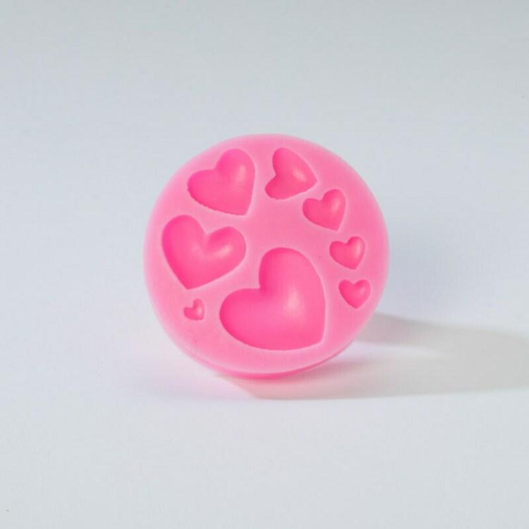 Moule cœurs lisses - 8 cm