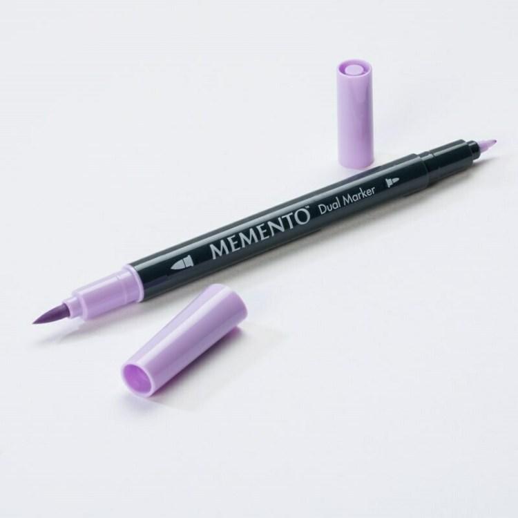 Feutre aquarelle double pointe Dual Marker Memento - lulu lavender