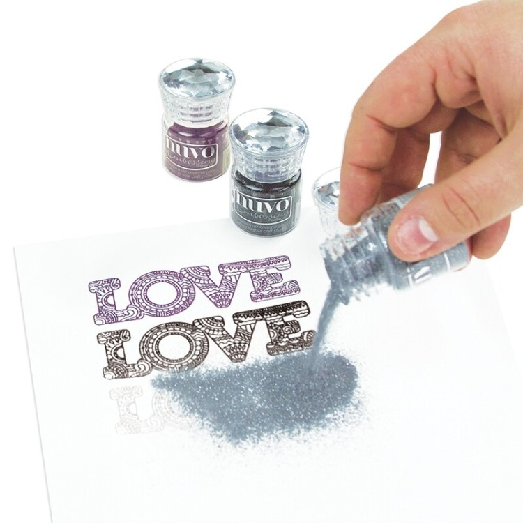 Nuvo - Glitter Embossing Powder - Silver Moonlight - 597n