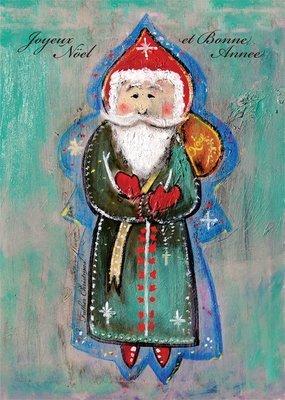 Father Christmas Holiday Greeting Card