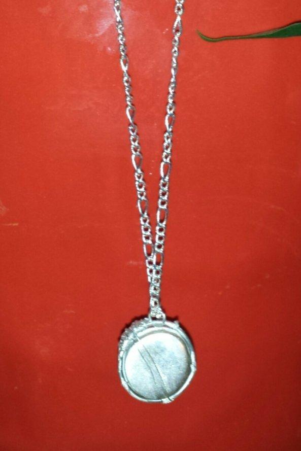 Fine Silver Garifuna Drum pendant and chain