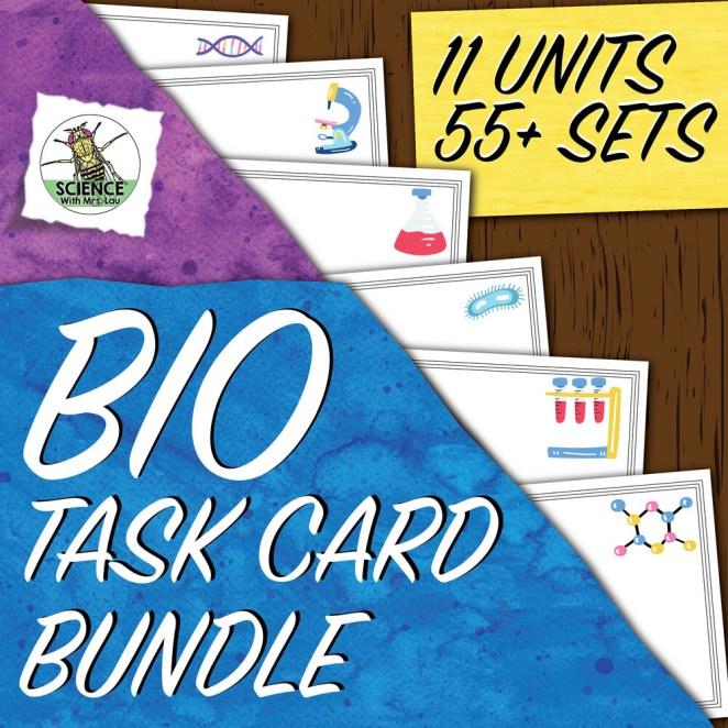 Biology Task Card Bundle