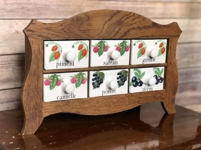 Vintage Spice Cabinet, Porcelain Spice Cabinet