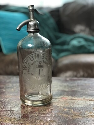 Vintage Seltzer Bottle, Vintage Glass