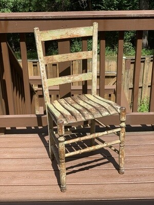 Chippy Wooden Chair, Vintage Chair, Plant Stand