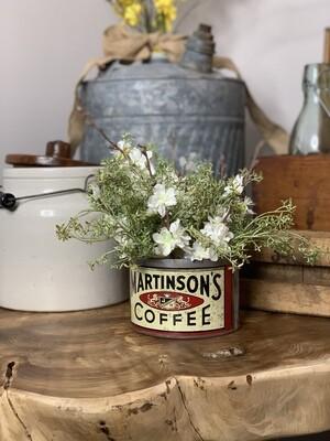 Vintage Planter, Vintage Tin, Vintage Advertising