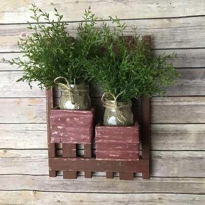 Vintage Wall Planter, Flower Boxes, Vintage Wall Art