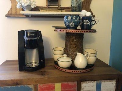 Two Tier Farmhouse Tray, Coffee Bar Mug Holder