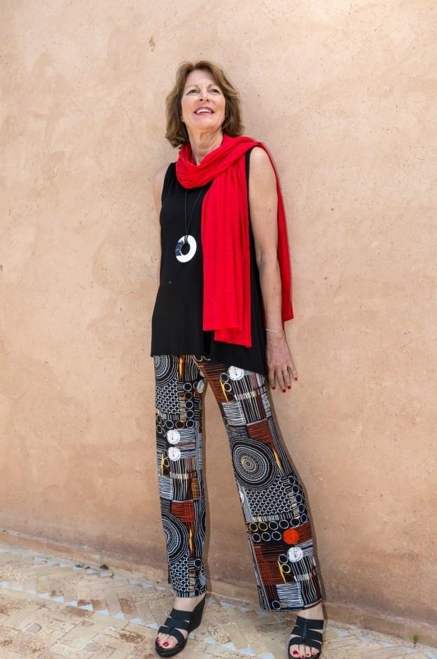 Pero - Retro Jersey wide leg trousers