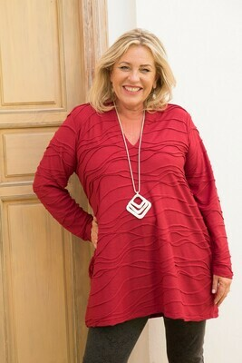 Tisha - Tunic Red