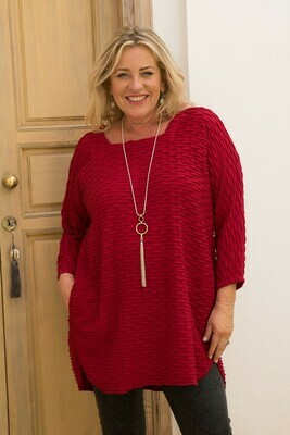 Timona - Square Neck Tunic - Red