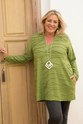 Tisha - Tunic - Deep Lime