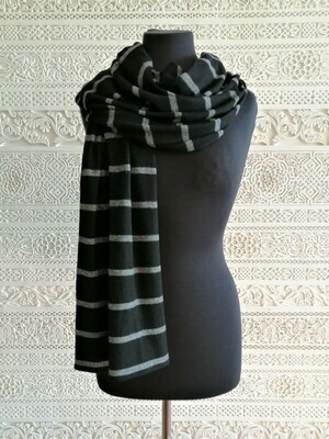 Sheri- Soft Black Knitted Scarf