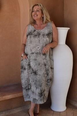 Rusha - Tulip cut Sleeveless dress with pockets