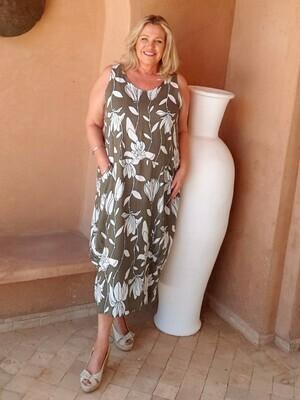 Regine - Sleeveless print dress
