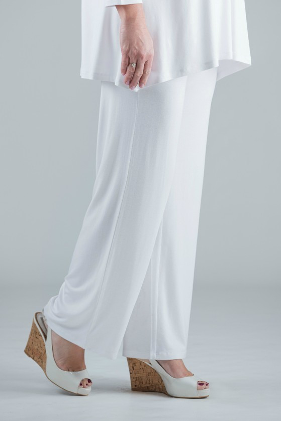 Paige - White Jersey Trousers