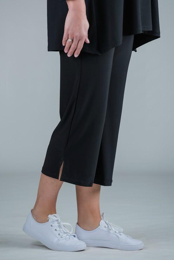Payton - Jersey crop trousers Black