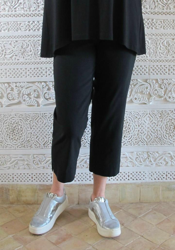 Robell Marie Capri Crop Trousers Black