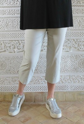Robell Marie - Crop Trousers Ivory